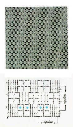 Macrame Mania – The Age-Aged Artwork Of Knotting Is Back With A Haute Couture Flavor – By Zazok Punto Red Crochet, Tunisian Crochet, Filet Crochet, Crochet Motif, Diy Crochet, Crochet Designs, Crochet Stitches Chart, Crochet Diagram, Knitting Patterns