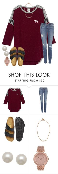 """""""ootd"""" by annagraceshep ❤ liked on Polyvore featuring Paige Denim, Birkenstock, Lead, Honora and MICHAEL Michael Kors"""