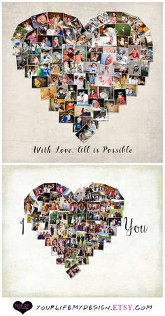 Heart Photo Collage - Your Life, My Design by Lali. Personalized Valentine's gifts for the special person in your life.   www.yourlifemydesign.com