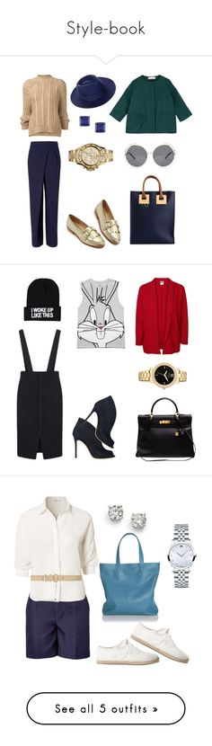 Style-book by shkolashopinga on Polyvore featuring polyvore fashion style Sophie Hulme Rejina Pyo 3.1 Phillip Lim Chloé Whistles F-Troupe Ice MICHAEL Michael Kors clothing Vero Moda Hermès Gianvito Rossi Forever 21 Citizen NLY Accessories Marc by Marc Jacobs Cole Haan Rut&Circle Movado BCBGMAXAZRIA Saks Fifth Avenue LACAMBRA Old Navy Marc Jacobs C. Wonder Rebecca Minkoff Dico Copenhagen Pim + Larkin Cacharel H&M Michael Kors Oasis Isabel Marant