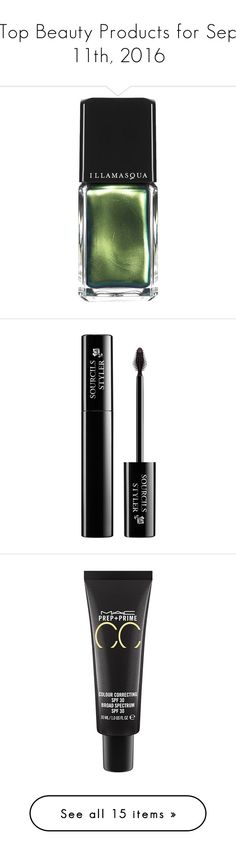 """""""Top Beauty Products for Sep 11th, 2016"""" by polyvore ❤ liked on Polyvore featuring beauty products, nail care, nail polish, makeup, nails, beauty, cosmetics, illamasqua nail polish, illamasqua nail varnish and illamasqua"""