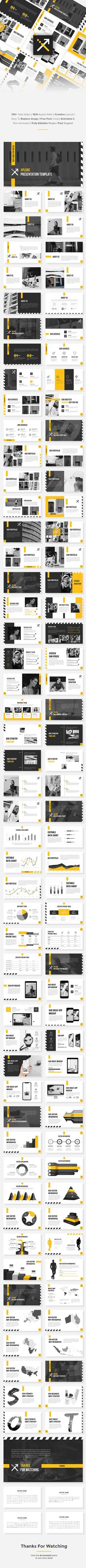 XPlore - StartUp PowerPoint Template - Pitch Deck PowerPoint Templates