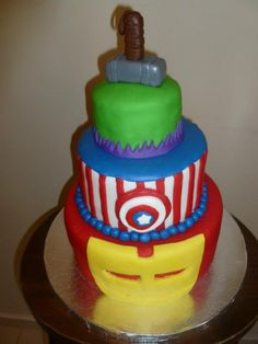 """""""Ok, Cake-Avenger, be at my birthday party at the time on this card..."""""""