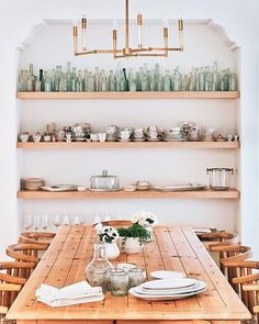 @laurenconrad 's dining room is one of my favorite spaces! I love seeing collections displayed so beautifully and effortlessly. ✨Do you have collections in your home?✨ My favorite things to collect right now are vintage portraits and anything wooden for my kitchen. Tell me your faves! . . . @mydomaine