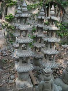 Oriental-Garden-Statue-Pagoda-Lamp-Lantern-Muliti-Tier-5-Feet-Tall