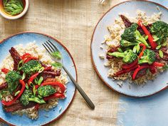 Quick Mongolian Beef Stir-Fry | It's easy to keep track of what you eat when you build a strong portfolio of delicious low-calorie meals. We'll get you started with this collection of dinner recipes that are low in calories but high in flavor.