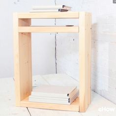 A simple and sleek nightstand that can be modified to fit individual needs and reflect personal styles.