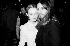 Elle Fanning and Jared Leto at Mr Chows.