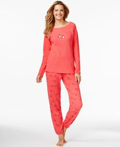 Hue Thermal Top and Pajama Pants Set
