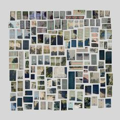 Jenny Odell - Google Maps Collage, every basketball court in manhattan