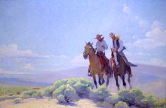 'The Open Range' by W. Herbert Dunton--This is one of my favorite paintings @ the Denver Art Museum