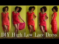 DIY High Low Lace Dress   Freestyle Sewing - YouTube
