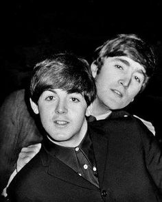 Paul McCartney and John Lennon of the Beatles