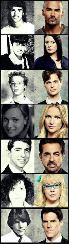Funny pictures about Criminal Minds then and now. Oh, and cool pics about Criminal Minds then and now. Also, Criminal Minds then and now photos. Spencer Reid, Dr Reid, Criminal Minds Quotes, Criminal Minds Cast, Al Pacino, Les Experts Manhattan, New York Unité Spéciale, Big Bang Theory, High School Photos
