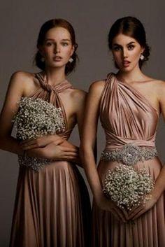 Bronze Copper Bridesmaid Dresses