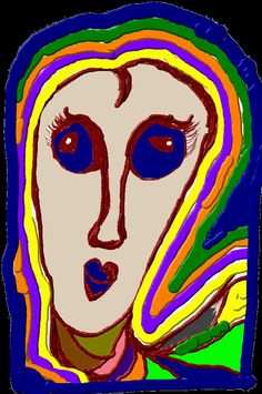 #onefaceaday - 347/365 - Colors - created with ScribMaster and Samsung Galaxy Note 2 by GrafDal