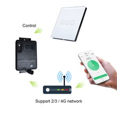 Smart remote control controller wifi switch rf 433mhz touch switch light switch for Android IOS smartphone smart home automation #Affiliate