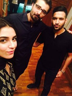 Selfie of the day: Zaid Ali visits set of Hamza Ali Abbasi's upcoming TV serial