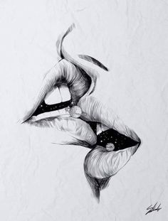Image about love in Drawings by Beta on We Heart It Pencil Art Drawings, Art Drawings Sketches, Good Sketches, Beautiful Sketches, Eyes Artwork, Erotic Art, Art Inspo, Art Reference, Character Reference