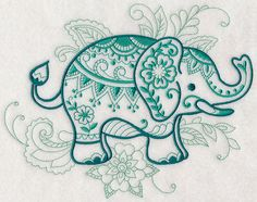 Grand Sewing Embroidery Designs At Home Ideas. Beauteous Finished Sewing Embroidery Designs At Home Ideas. Embroidery Tattoo, Cross Stitch Embroidery, Hand Embroidery, Elephant Art, Elephant Tattoos, Indian Elephant, Small Elephant, Machine Embroidery Designs, Embroidery Patterns