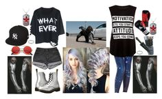 """""""Jemma Barnes"""" by the-real-river-song ❤ liked on Polyvore featuring PèPè, Dr. Martens, ZeroUV, New Era and West Coast Jewelry"""