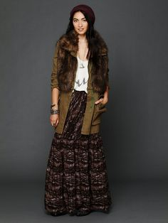 Free People Printed Maxi Skirt, $258.00