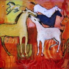 """chevaux sauvages"" acrylique sur toile 16 x 24 po Wordpress, Painting, Art, How To Paint, Horse, Toile, Art Background, Painting Art, Kunst"