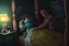 Aloha Ahiahi by Ribera on DeviantArt Lilo And Stitch Ohana, Disney Stitch, Disney Bedding, Ohana Means Family, Little Stitch, Cartoon Tv, Little Monsters, How Train Your Dragon, Avatar The Last Airbender
