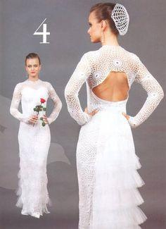 Vestido de Novia con Glamour - Patrones Crochet