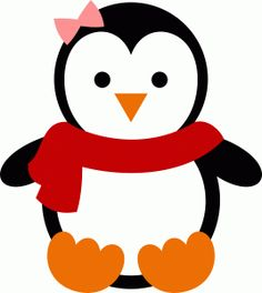 cute penguin clip art use these free images for your websites art rh pinterest com clip art penguin in santa sleigh clipart penguins free