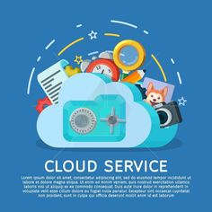 Networking communication and data icons. Data provision and cloud computing services. Protection of personal data. Data Icon, Cloud Computing Services, Flat Style, Fashion Flats, My Job, Lorem Ipsum, Service Design, Banner, Clouds