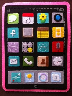 felt iPad  love this! you could also make it open and put activities in it!