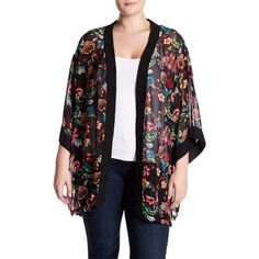 b999267cdad Breathless Floral Kimono (Plus Size) ( 30) ❤ liked on Polyvore featuring  plus
