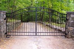 Automated Iron Driveway Gate.   @psedberry fav so far, curved
