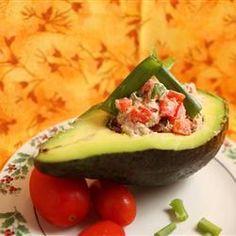 Atum no abacate