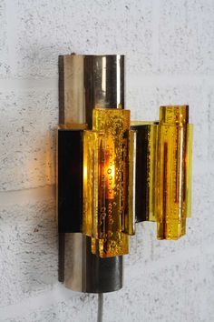 Chromed Metal and Acrylic Wall Light | Claus Bolby | 1960s