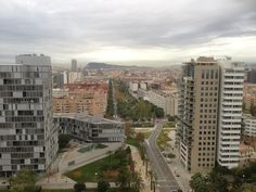Vistas de Barcelona desde Diagonal Mar
