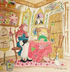 From Romantic Country: the second tale by Eriy in Polychromos pencils