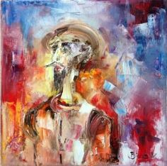 Don Quixote Painting by Konrad Biro