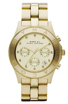 MARC BY MARC JACOBS 'Blade' Crystal Index Watch, 40mm available at #Nordstrom