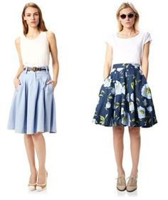 The Fashion Police pull together a capsule wardrobe of Spring staples. Find out what to wear this spring for a classic, stylish look for the new season. Teacher Clothes, Teacher Outfits, Capsule Wardrobe, Wardrobe Staples, Chambray Skirt, Spring Skirts, Passion For Fashion, What To Wear, Style Me