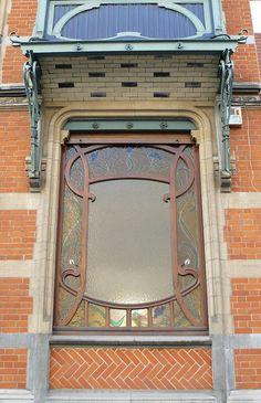 Bruxelles Art Nouveau Door by Marie-Hélène Cingal
