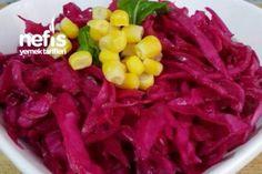 Lokanta Usulü Enfes Kırmızı Lahana Tarifi Turkish Salad, Turkish Recipes, Food Art, Pasta Recipes, Ham, Cabbage, Salads, Food And Drink, Vegetables