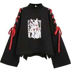 Retro Fox Dark Strap Short Sweater YC20090