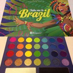 got this from : BH Cosmetics Take Me to Brazil 30 color eyeshadow palette. Can't wait to try it! Skin Makeup, Eyeshadow Makeup, Makeup Cosmetics, Eyeshadows, Bh Cosmetics Palette, Makeup Kit, Blending Eyeshadow, Eyeshadow Palette, Eyeshadow Basics