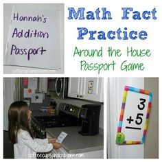 A fun passport themed game to practice math facts using flashcards.