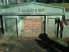 John Quincy Adams, 6th U.S. President - Grave site in Quincy, MA