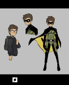 Robin redesign by Jebedaï Couture Arte Dc Comics, Batman Comics, Superhero Characters, Comic Book Characters, Robin Drawing, Nightwing, Batgirl, Catwoman, Alien Character