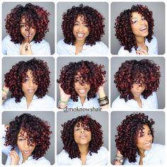 A Naturalista's Hairspiration [] Monica of MoKnowsHair Curly Crochet Hair Styles, Crochet Braids Hairstyles, Scarf Hairstyles, Girl Hairstyles, Braided Hairstyles, Curly Hair Styles, Crotchet Braids, Crochet Braid Styles, Natural Hair Care