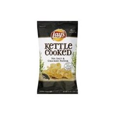 Lay's - Kettle Cooked Sea Salt & Cracked Pepper Chips